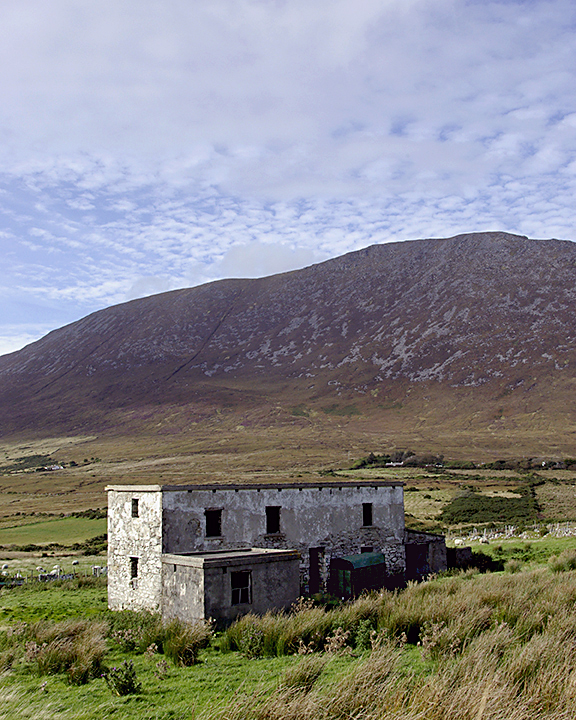 A disused building on road from Dugort to Dookinella, Achill Island, County Mayo, Ireland.