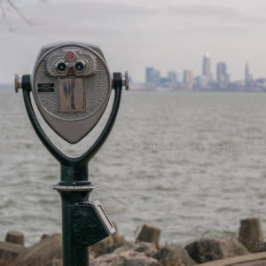 Cleveland skyline from Lakewood Park.